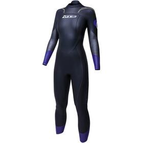 Zone3 Aspire Pianka pływacka Kobiety, black/gun metal/purple